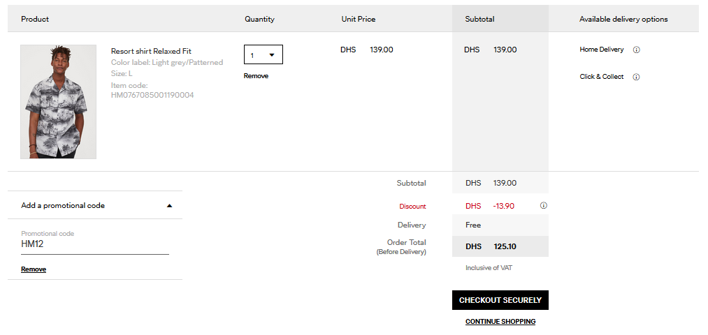 How to use H&M UAE Promo Code